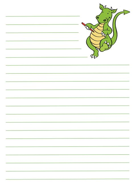 letter template  boys    dragon template