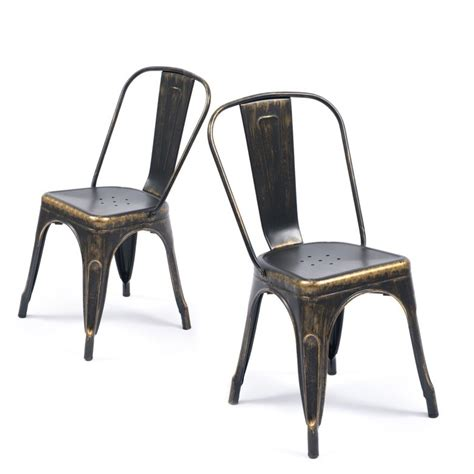 antique black dining chairs industrial vintage style steel metal bar side chairs 4075