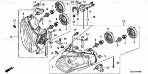 Honda Motorcycle 2003 Oem Parts Diagram For Headlight