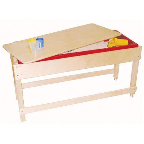Sand Water Table With Lid Shelf Educator 39 S Depot