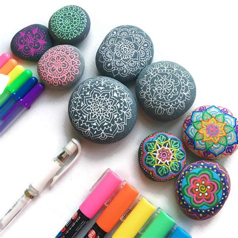 tips and tools for drawing on rocks color made happy