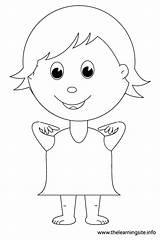 Outline Shoulders Shoulder Coloring Body Parts Kid Point sketch template