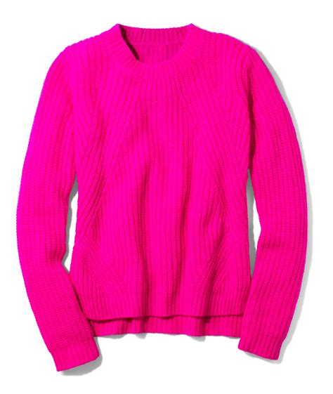 fuchsia sweater pink sweaters 57 images pink crew neck crop fuzzy