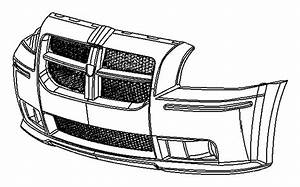 2007 Dodge Fascia  Front  Primed  Lampstire