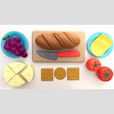 Just Like Home Bread And Cheese Set Toy Cutting Food