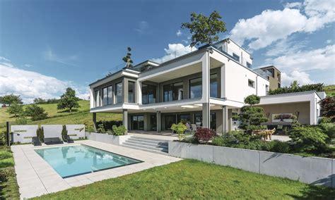 Haus Kaufen Mit Pool Schweiz by Fertighaus Weberhaus Holzbauweise Villa Pool