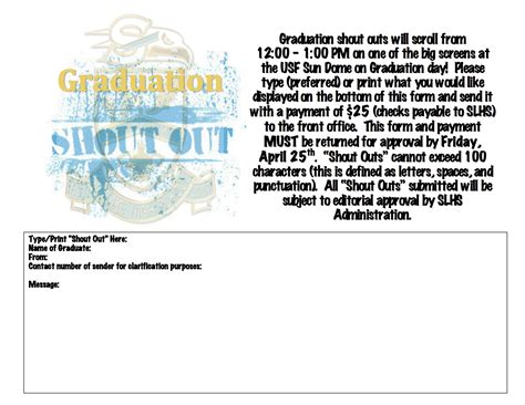 graduation shout outs sunlake high school