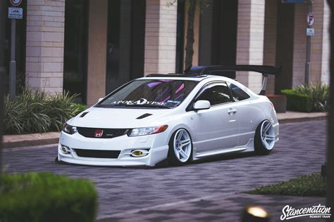 Modified Honda Civic Wallpapers by Honda Civic 2006 Cars Coupe White Modified Wallpaper
