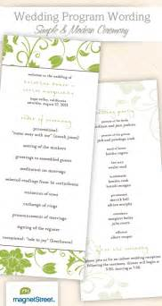 wedding program wording templatestruly engaging wedding - Wording For Wedding Programs