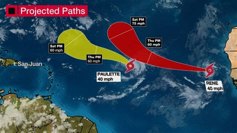 Tropical Storms Rene and Paulette form in Atlantic | CBR