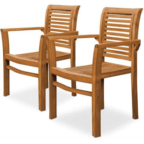 2x Teak Stuhl Govinda Sitzmöbel Holz Gartenmöbel