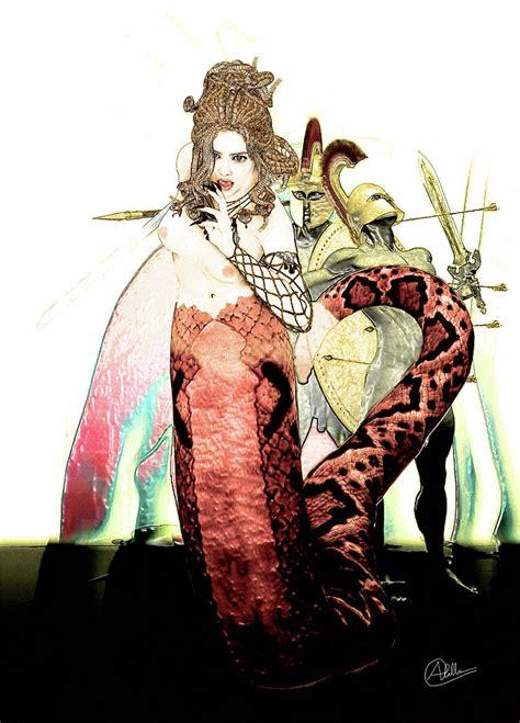 Gorgon Medusa Digital Art by Quim Abella