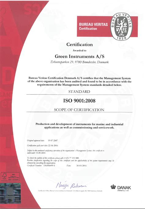 bureau certification products green instruments