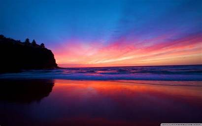 Sunset Beach Smooth 4k Desktop Wallpapers Background