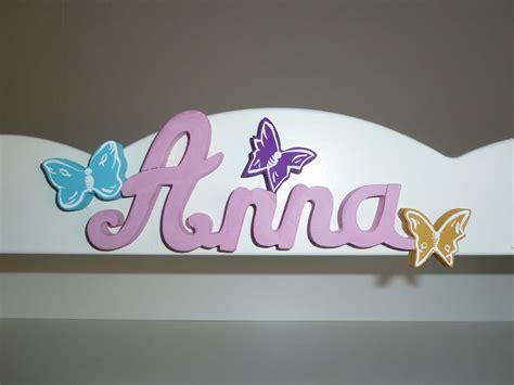 lettres attachees papillon prenoms en bois decoration