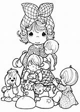 Precious Moments Coloring Adult Character Pages sketch template
