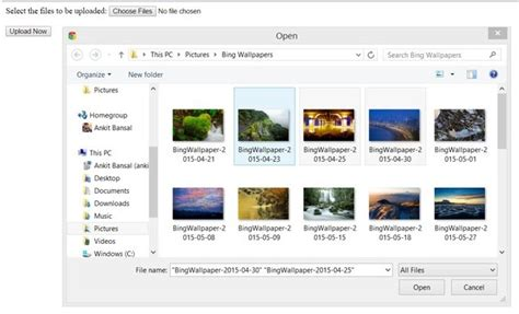 Upload Multiple Files Using Jquery Ajax And Jqueryui