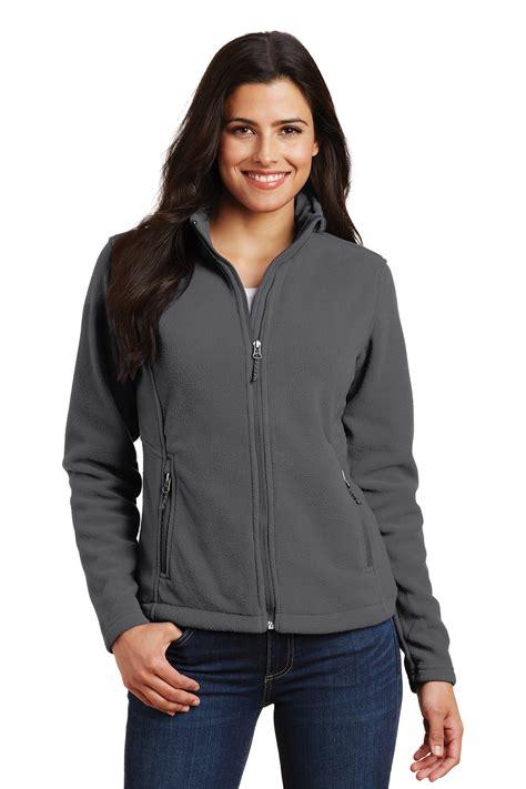 ladies full zip fleece jacket port authority  central uniforms