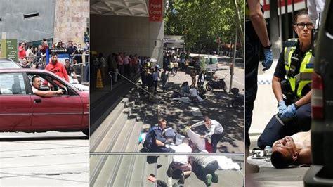 melbourne shooting bourke street mall police pursuit pedestrians hit  car daily telegraph