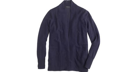 J.crew Collection Cashmere Long Open Cardigan Sweater In Blue (hthr Midnight)