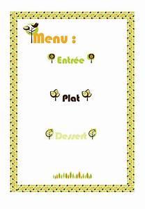 Modele De Menu A Imprimer Gratuit : menu automne imprimer ~ Melissatoandfro.com Idées de Décoration