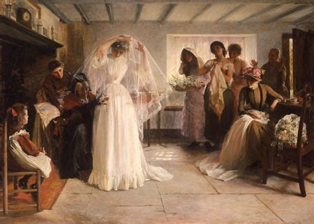 Wedding/Marriage: Paintings of wedding dresses and gowns