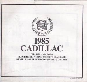 Purchase New Old Stock 1985 Cadillac Seville Body Wiring