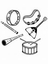 Coloring Musikinstrumente Ausmalbilder Malvorlagen Zum Kinder Instruments Musical sketch template