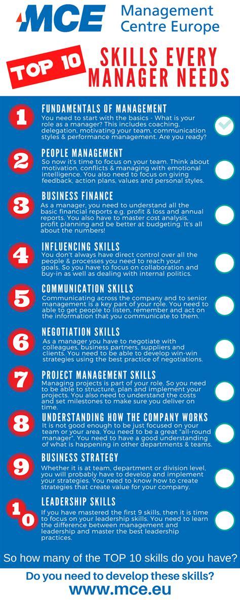 key skills  manager  management centre