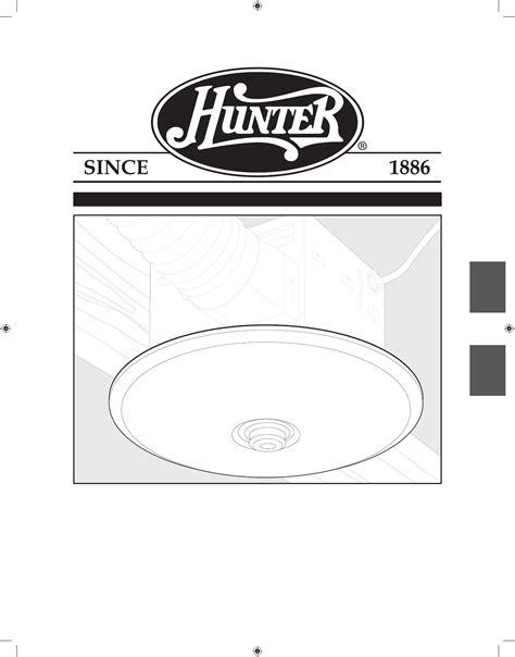 hunter fan ventilation hood  user guide