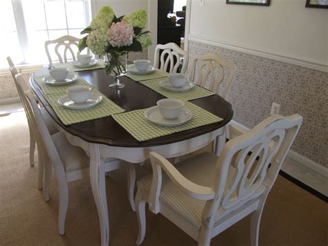 vintage provincial dining room table and chairs