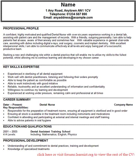 Writing A Nursing Curriculum Vitae by Cv Template Dental Personal Statement For