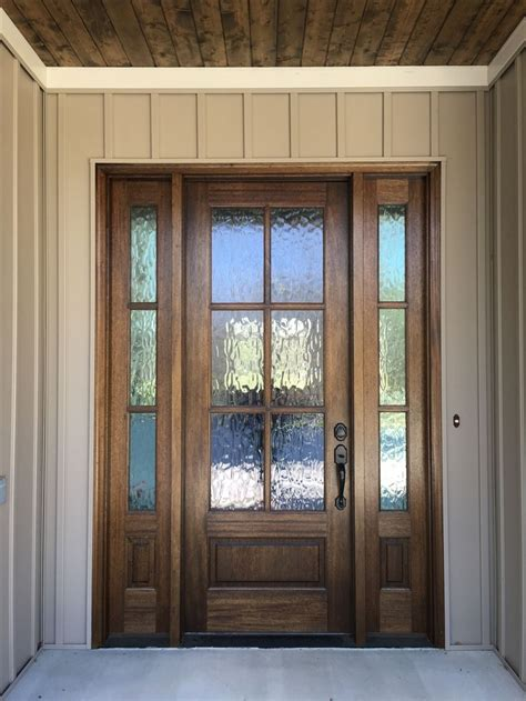 Exterior Door With Window by Mahogany Front Door With Privacy Glass See More Pictures