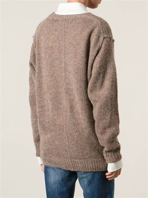 marant sweater étoile marant 39 rikers 39 sweater in brown lyst