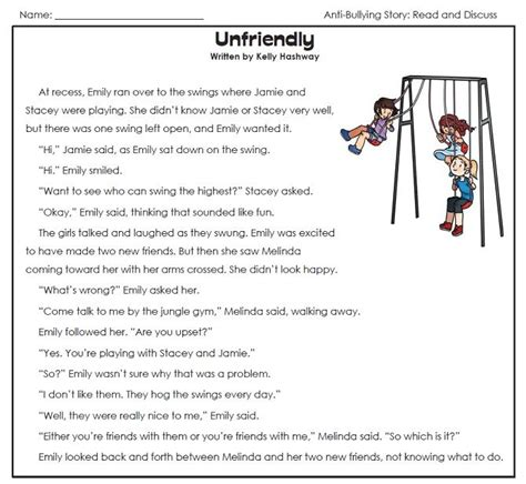 check out our anti bullying worksheets page read the