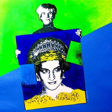 original diana original canvas sale andy warhol princess diana pop