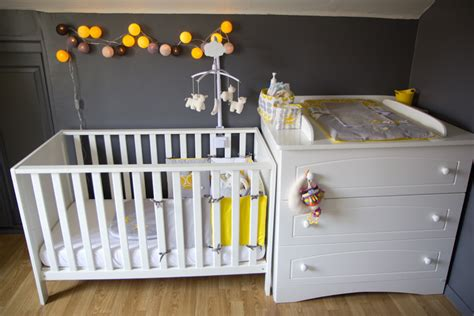 deco chambre bebe garcon gris deco chambre garcon jaune gris