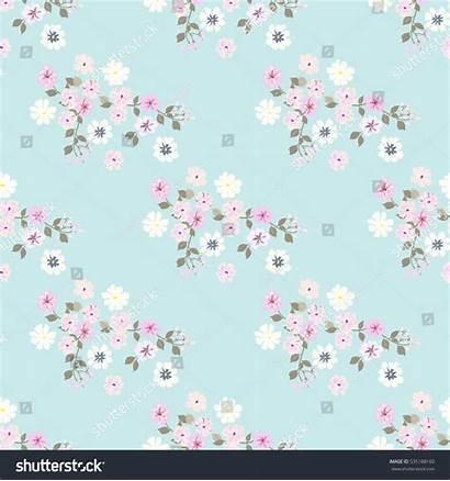 Simple Flowers Pattern Seamless Millefleurs Floral Shutterstock