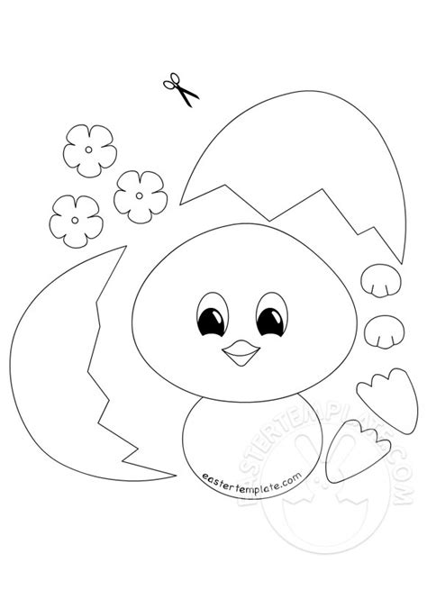 easy easter crafts  kids easter template
