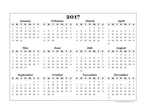 blank calendar template 2017 2017 yearly blank calendar template free printable templates