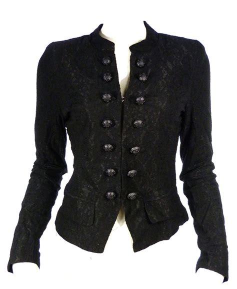 blouse cuisine veste en dentelle élegant gothique rangée de