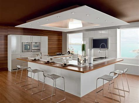 modele cuisine avec ilot central table modèle de cuisine avec ilot central inspirations avec