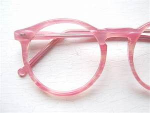80's Colors in Optics Oversized Peabody Pink Pearlized