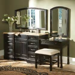 double sink bathroom vanity with makeup table mugeek