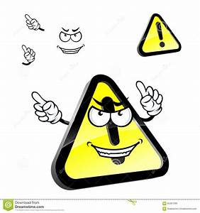 Cartoon Hazard Warning Attention Sign Stock Vector - Image ...