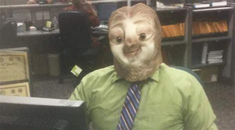 dmv employee dressed    sloth  halloween