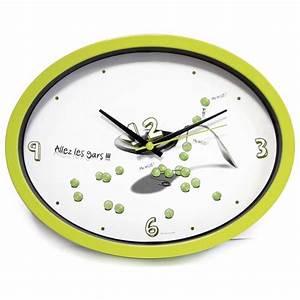 Pendule De Cuisine Moderne : horloge cuisine ludik verte ~ Carolinahurricanesstore.com Idées de Décoration