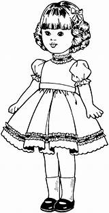 Dolls Coloring Pages sketch template