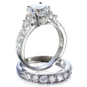 cz engagement rings that look real jewelry box 39 s fancy faux cz wedding ring set rings