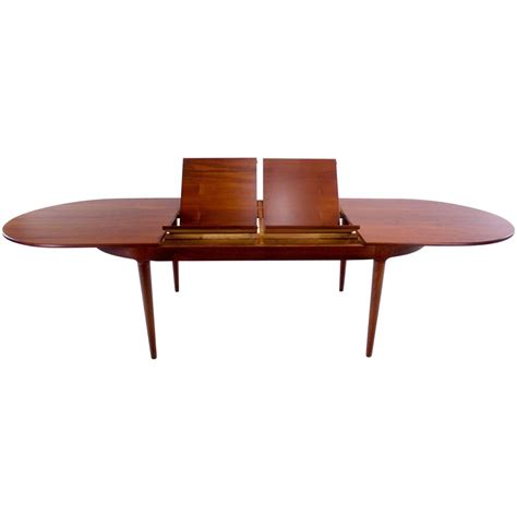 antique butterfly leaf dining table arne vodder oval dining table with two butterfly 7464
